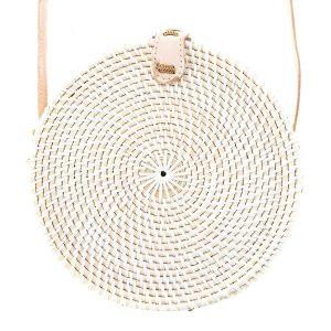 "Produktabbildung: ""Canggu"" white bali bag made of ata-grass"