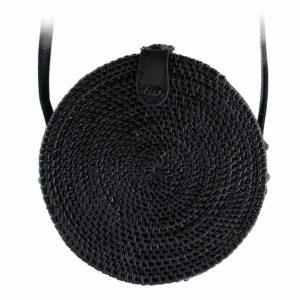 "Produktabbildung: ""Canggu"" black bali bag made of ata-grass"