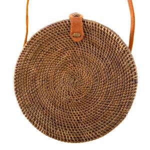 """Produktabbildung: Bali Ata Bag """"Canggu"""" Naturale Rattan Tasche rund aus Ata-Gras"""