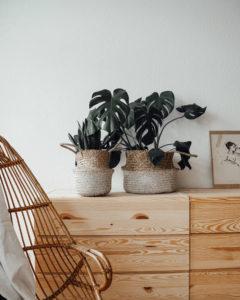 """Produktabbildung: """"Munduk"""" natural/white seaweed basket"""