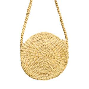 "Produktabbildung: ""Melasti"" Round bag from braided banana leaf"