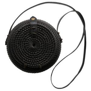 "Produktabbildung: Rounded ata bag ""Kuta"" black"