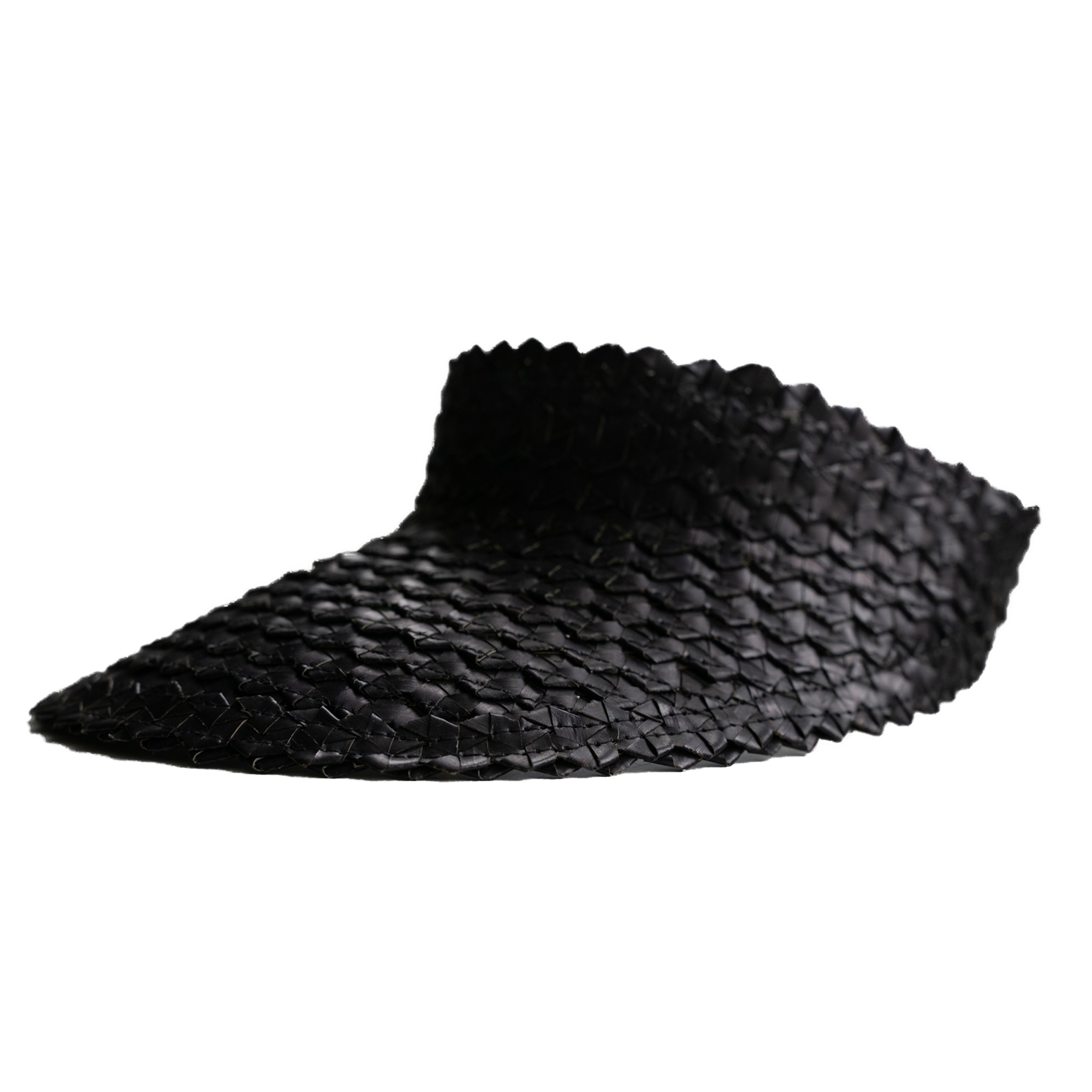 "Color: Visor ""Lembongan"" made out of straw in black"