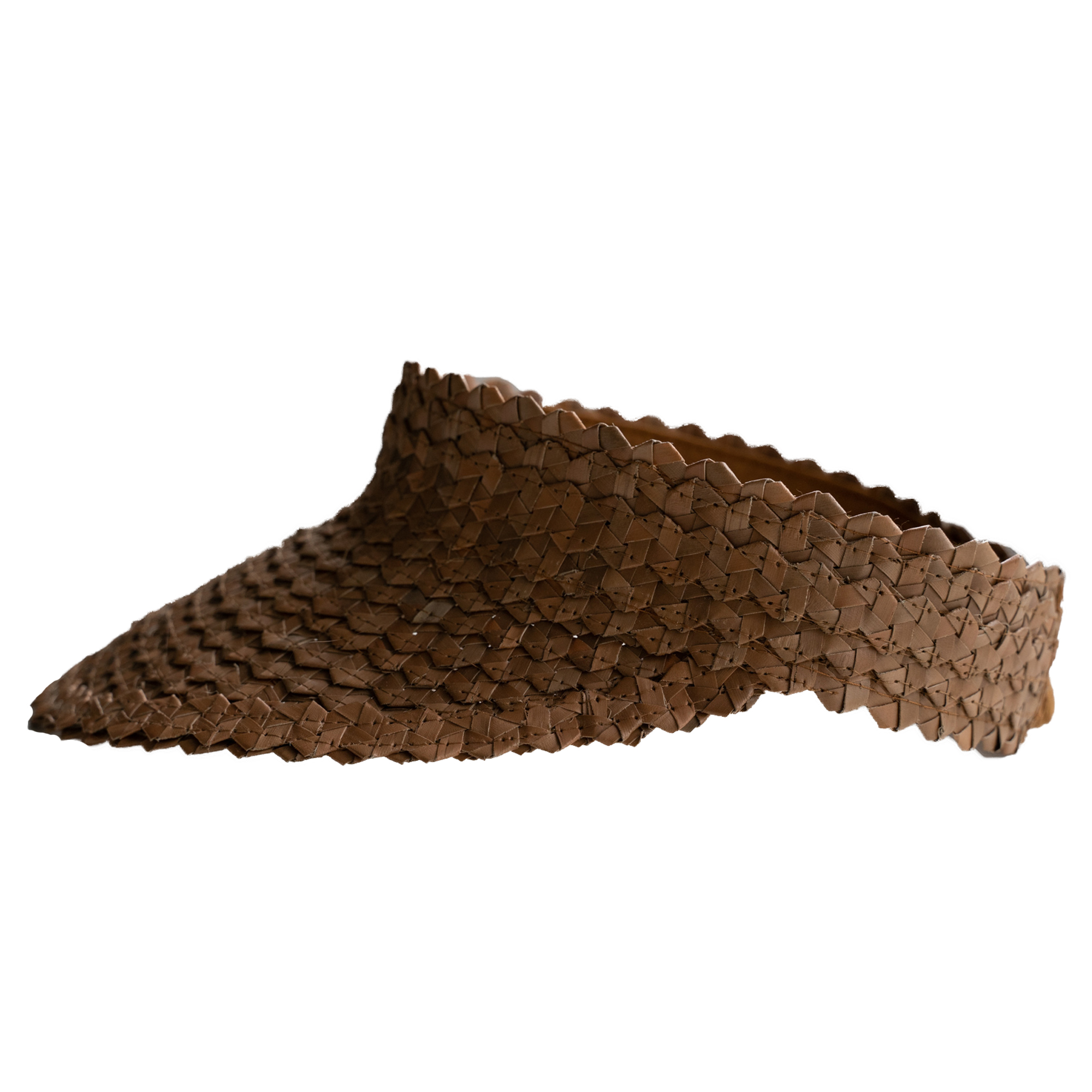 "Color: Visor ""Lembongan"" made out of straw in brown"