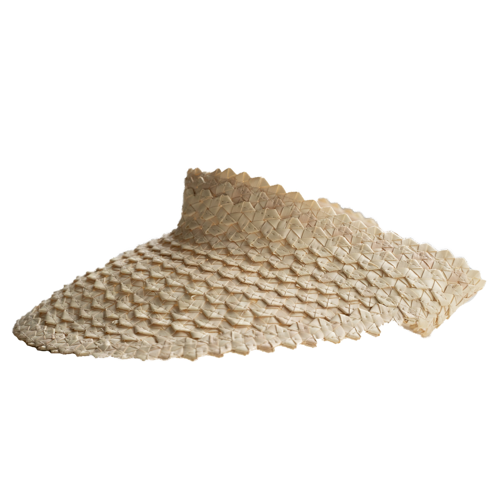 "Color: Visor ""Lembongan"" made out of straw in natural"