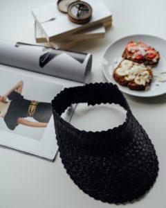"Produktabbildung: Visor ""Lembongan"" aus Stroh in Schwarz"