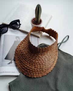 "Produktabbildung: Visor ""Lembongan"" made out of straw in brown"