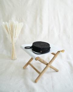"Produktabbildung: ""Canggu"" schwarze Bali Tasche aus Ata-Gras"