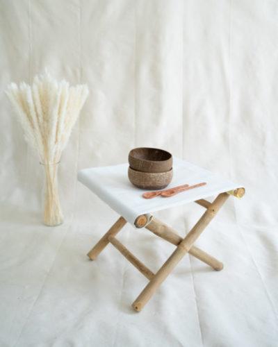 "Produktabbildung: 2er Set ""Hoi An"" Geriffelte Coconut Bowl mit handgeschnitztem Löffel"