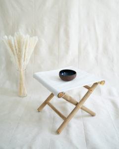 "Produktabbildung: ""Halong"" Coconut Bowl with blue painting"