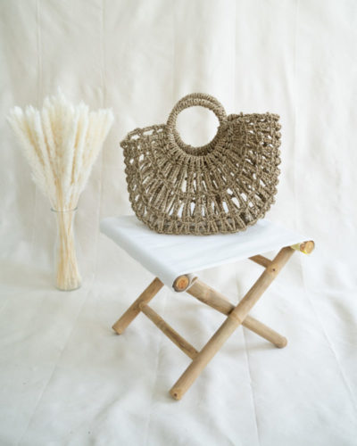 "Produktabbildung: Basket bag ""Ceningan"" made out of straw"