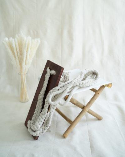 "Produktabbildung: ""Bingin"" swing with dark ropes"