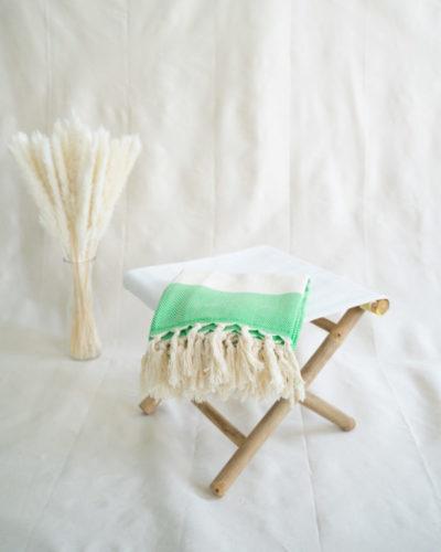 "Produktabbildung: Strandtuch ""Patara"" Herringbone in Green"