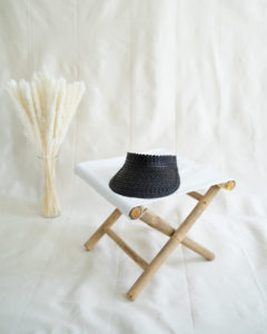 "Produktabbildung: Visor ""Lembongan"" made out of straw in black"
